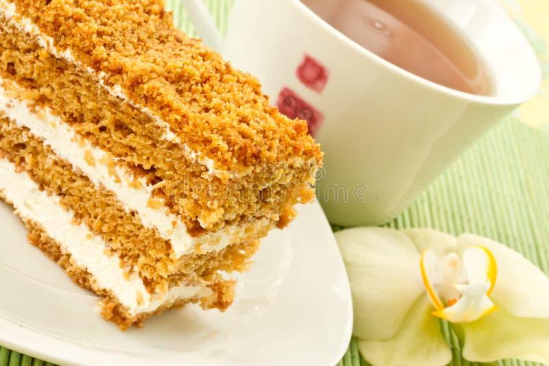 Torta di miele della torta fotografie stock libere da diritti