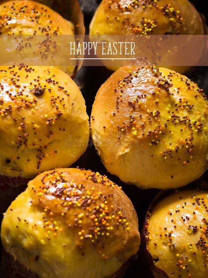 Torta di Pasqua handmade Tradizione nazionale ucraina fotografia stock libera da diritti
