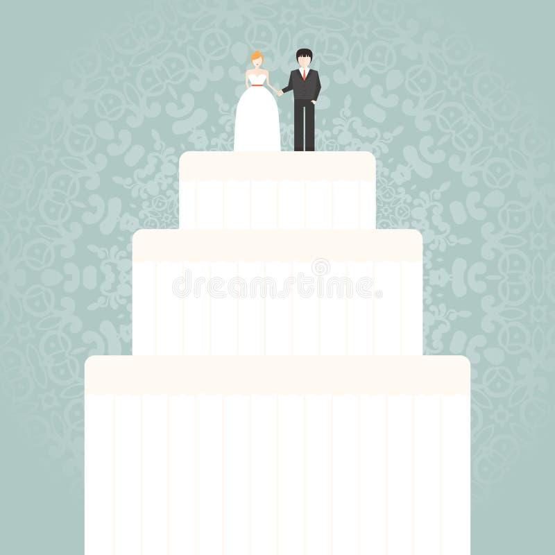 Torta 8 do casamento ilustração stock