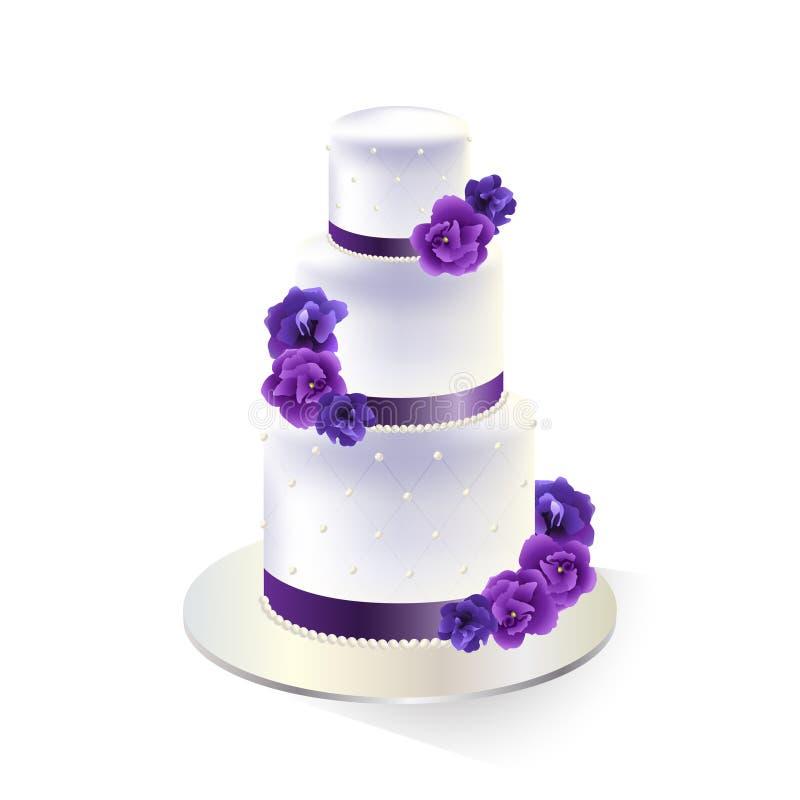 Torta 8 do casamento ilustração do vetor
