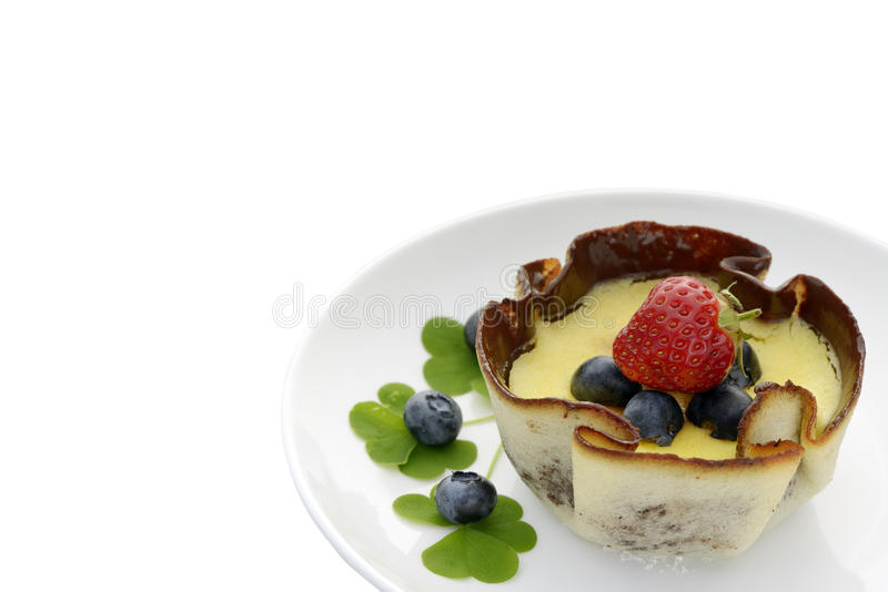 Torta do creme fotografia de stock royalty free