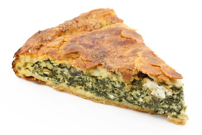 Torta do espinafre (spanakopita) fotografia de stock