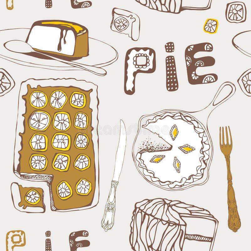 Torta do limão. ilustração stock