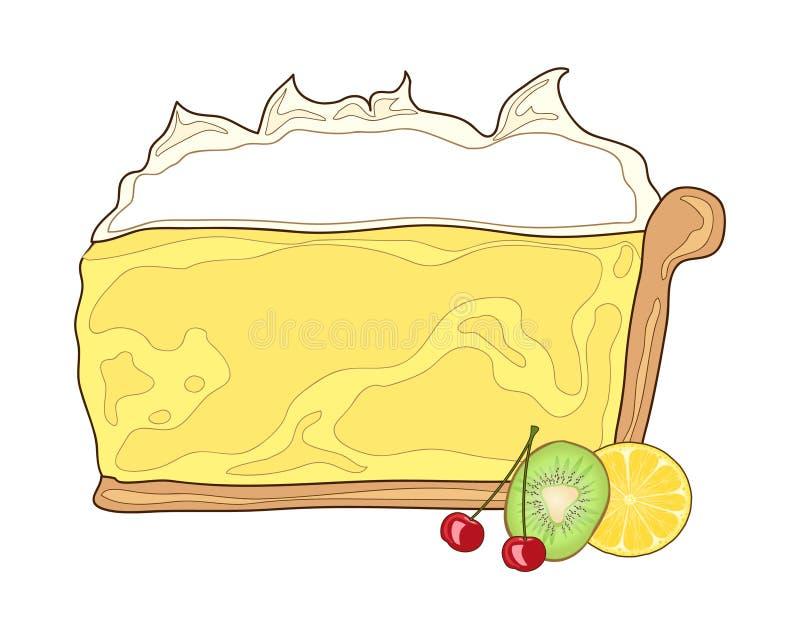 Torta do limão ilustração do vetor