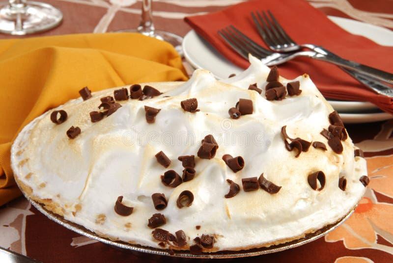 Torta do meringue do chocolate imagens de stock