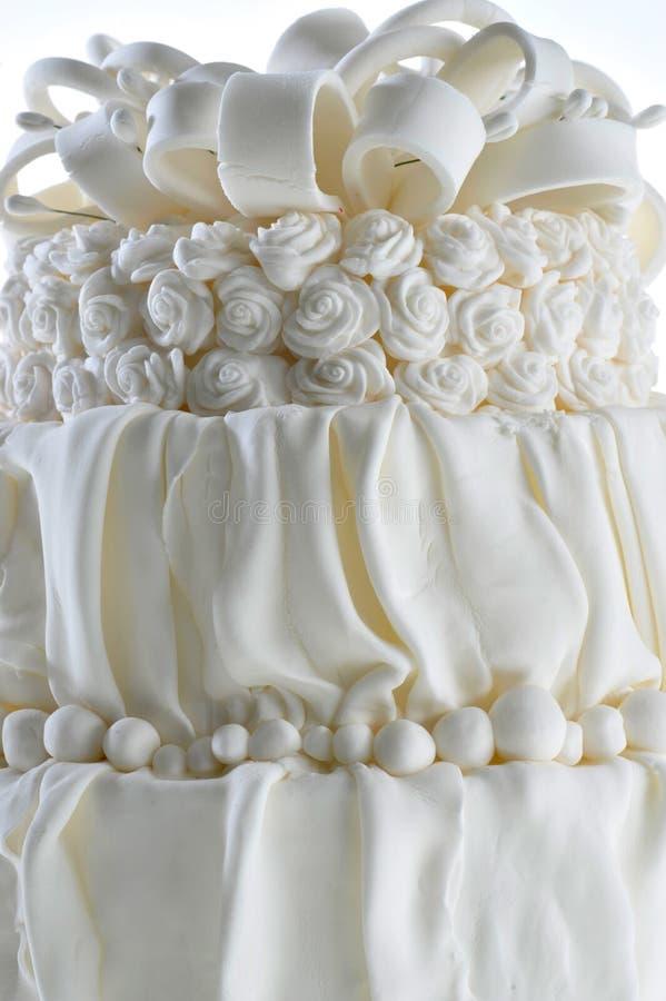 Torta dulce del partido de la celebración de la vainilla del pastel de bodas fotografía de archivo