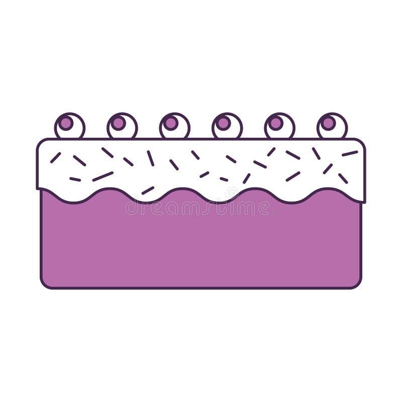 Torta dulce y deliciosa stock de ilustración