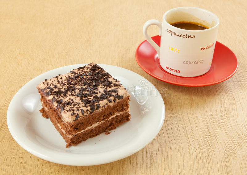 Torta e caffè fotografia stock