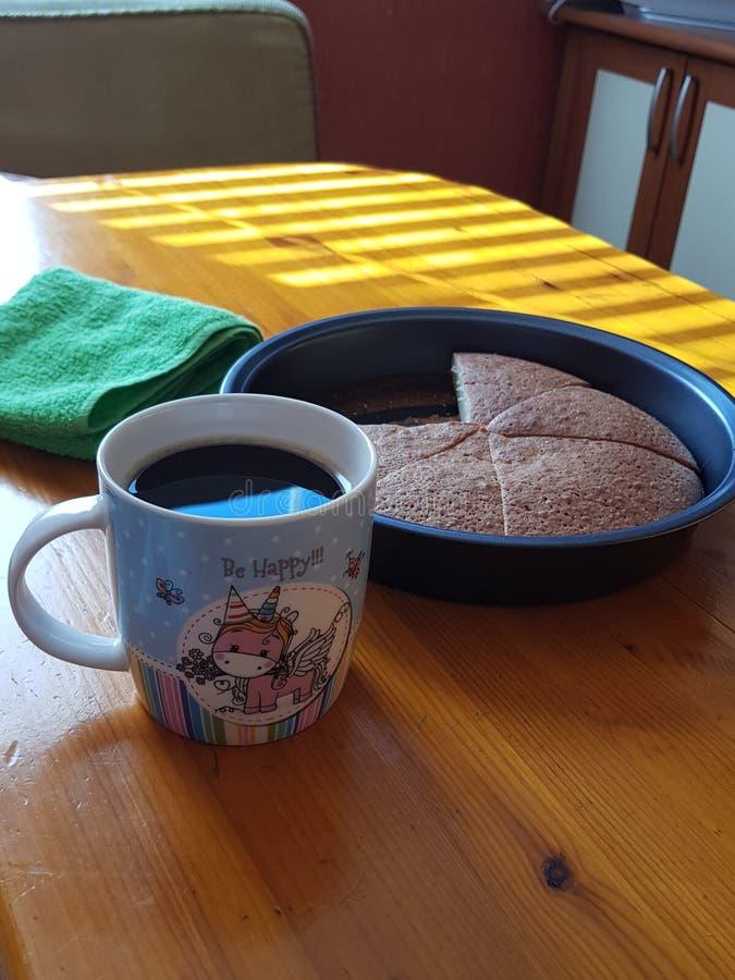 Torta e caffè per la prima colazione fotografia stock