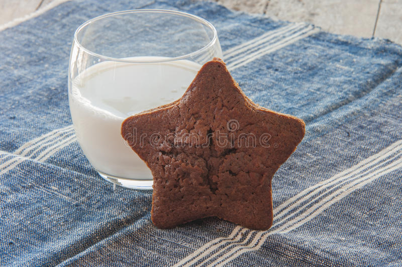 Torta en la forma de la estrella imágenes de archivo libres de regalías