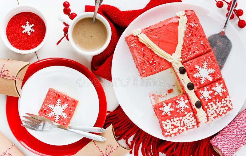 Torta fea del suéter de la Navidad, receta para el partido de las vacaciones de invierno, imagenes de archivo