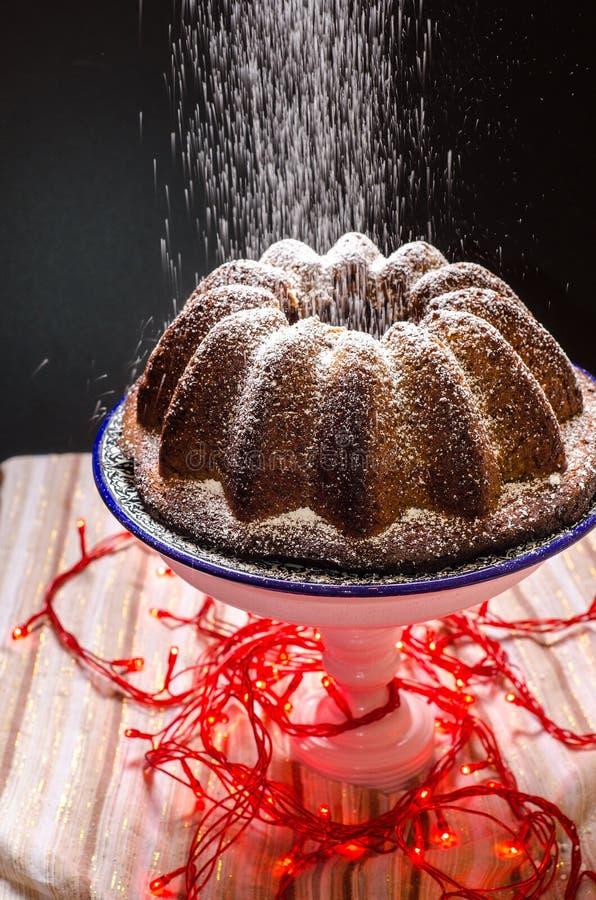 Torta festiva del invierno imagen de archivo