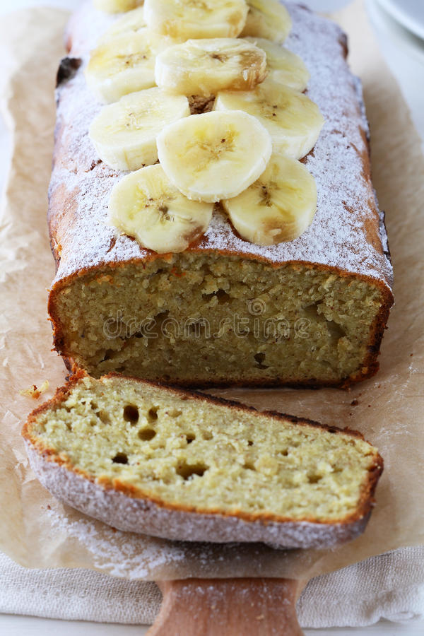 Torta fresca del plátano fotos de archivo libres de regalías