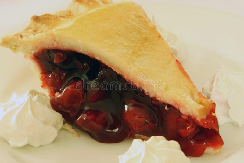 Torta friável da cereja foto de stock