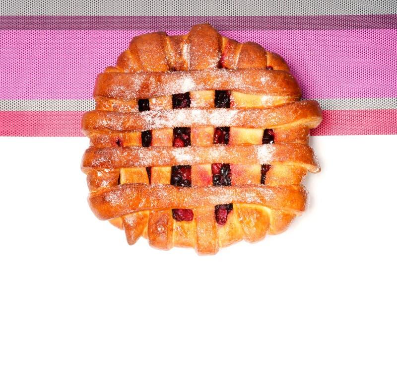 Torta grande da cereja imagem de stock