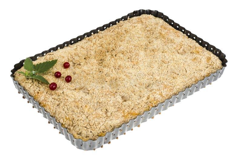 Torta hecha en casa dulce en forma del metal imagenes de archivo