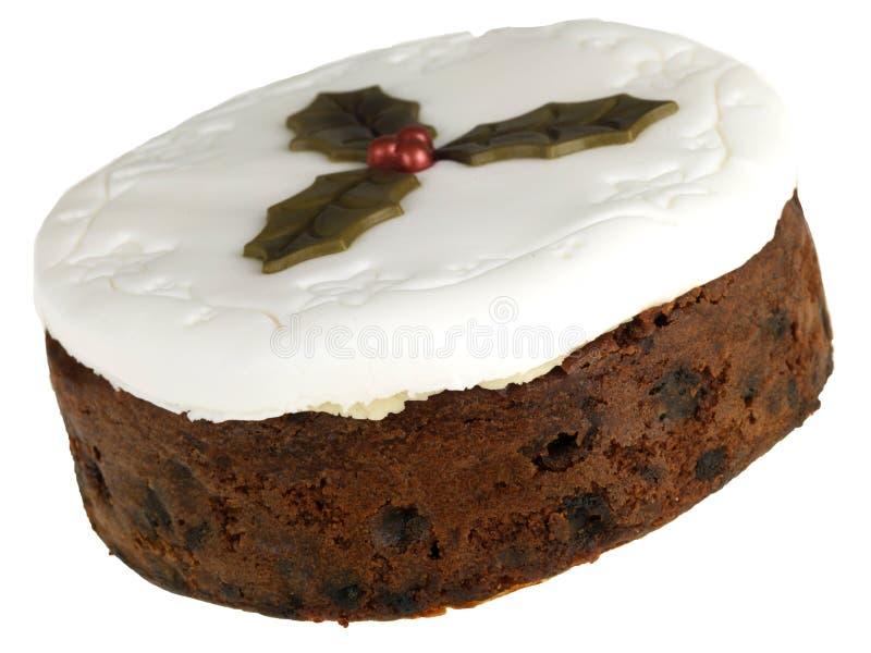 Torta helada de la fruta de la Navidad fotos de archivo