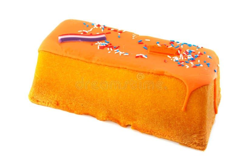 Torta holandesa del día de las reinas imagen de archivo