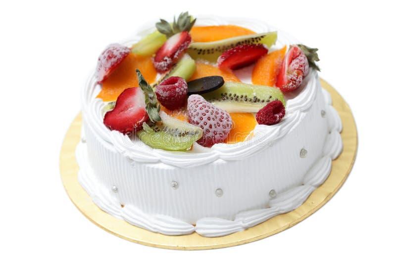 Torta mezclada de la crema de la fruta imagen de archivo