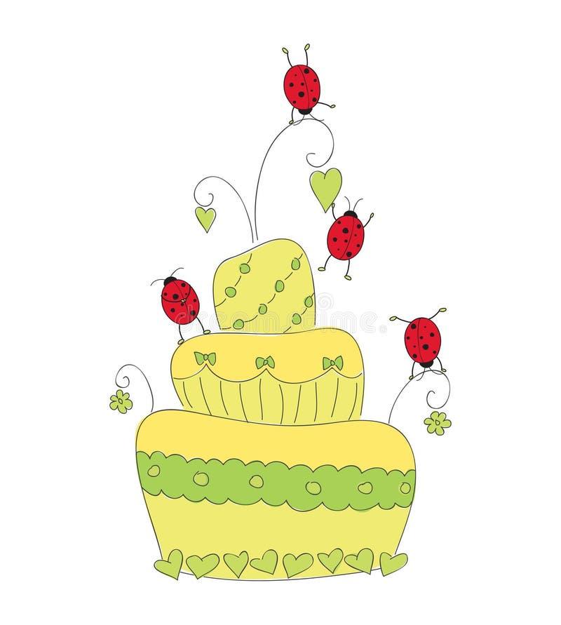 Torta ocasional linda stock de ilustración