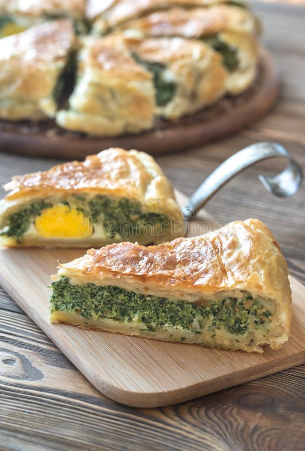 Torta Pascualina - Spinach and Ricotta Tart stock images