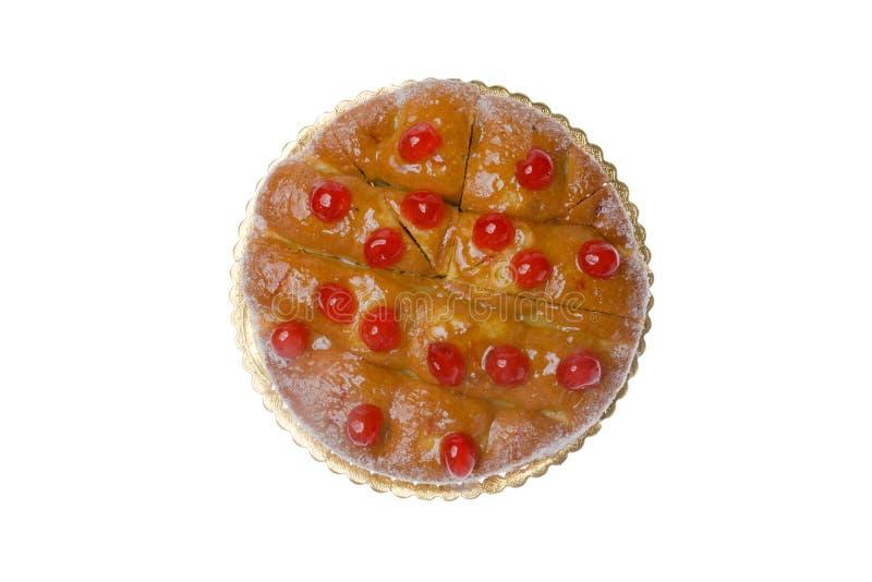 Torta preservada azúcar de la cereza fotografía de archivo