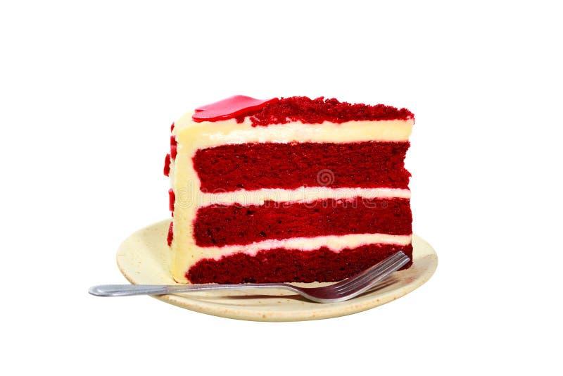 Torta roja del terciopelo fotos de archivo