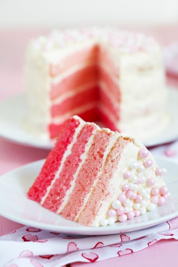 Torta rosada de Ombre fotos de archivo libres de regalías