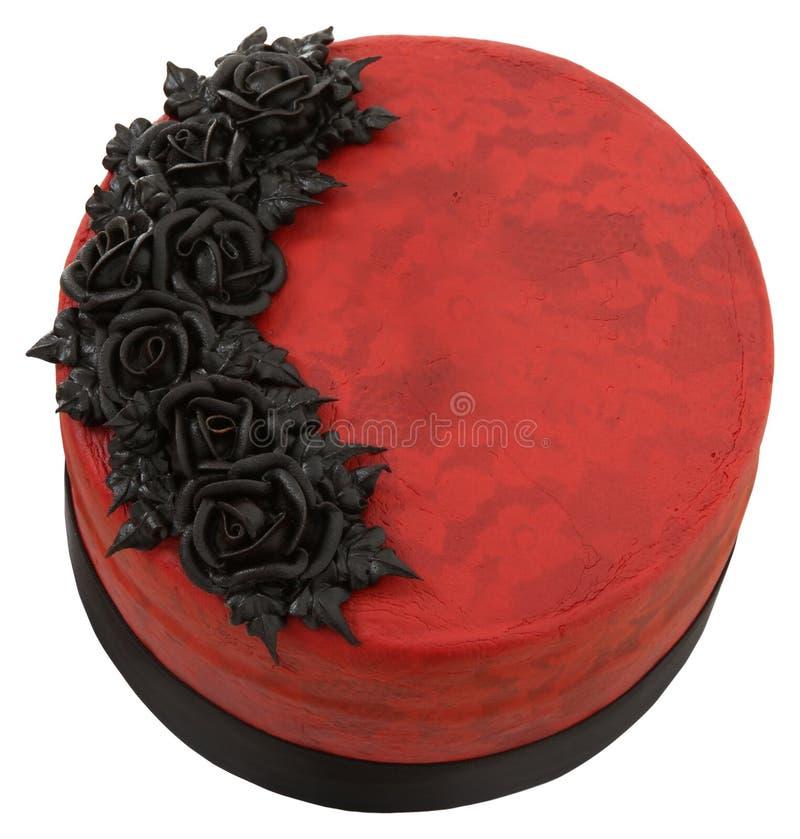 Torta rossa di Goth del velluto immagine stock libera da diritti
