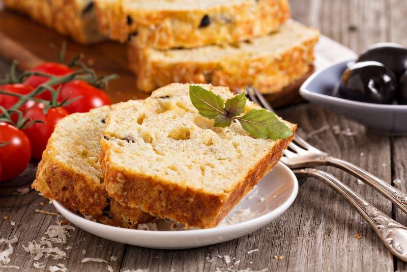 Torta sabrosa del pan imagen de archivo libre de regalías