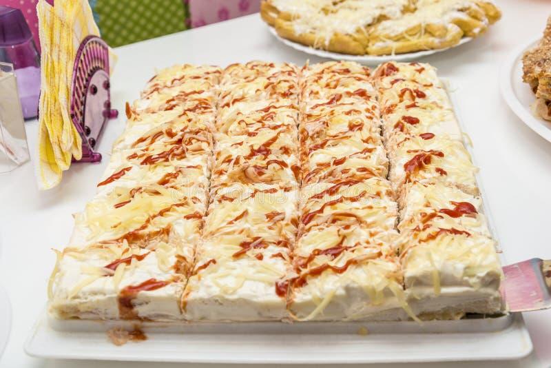 Torta salata fotografie stock