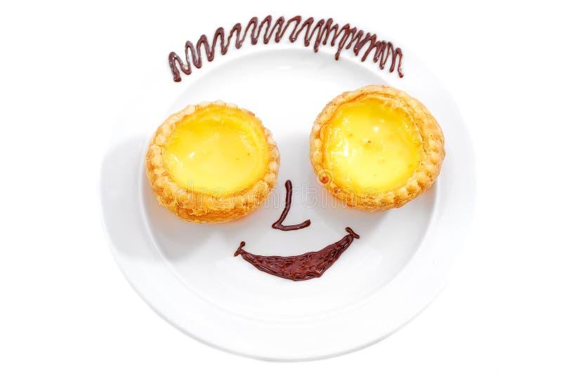 Torta sorridente fotografie stock