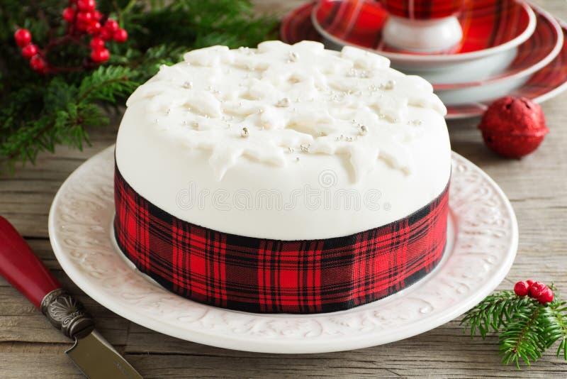 Torta tradicional de la fruta de la Navidad imagen de archivo