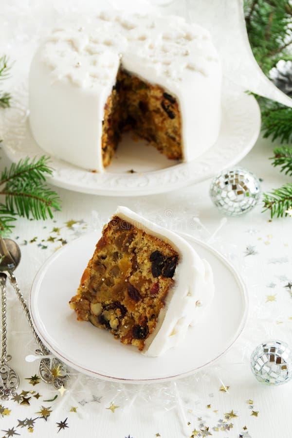 Torta tradicional de la fruta de la Navidad fotografía de archivo