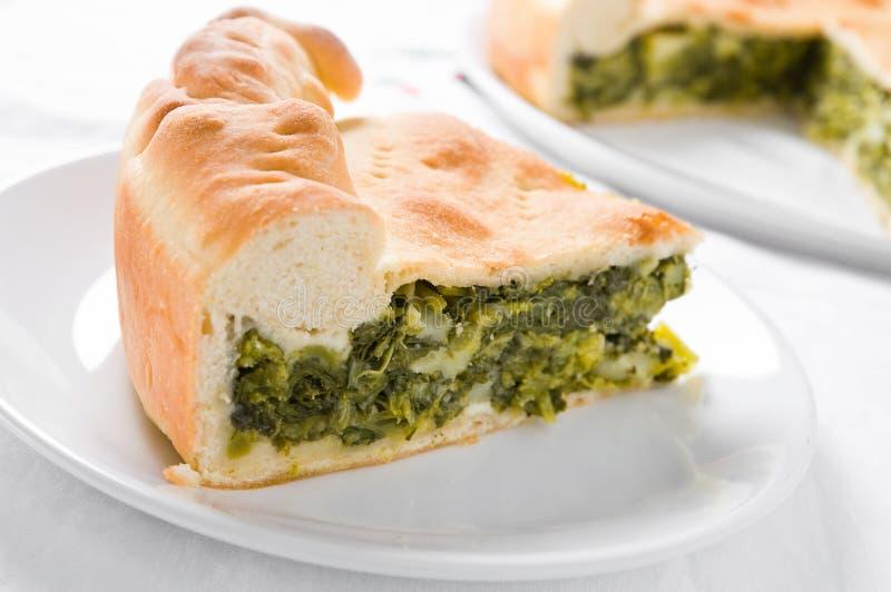 Torta vegetal mediterrânea. imagem de stock royalty free