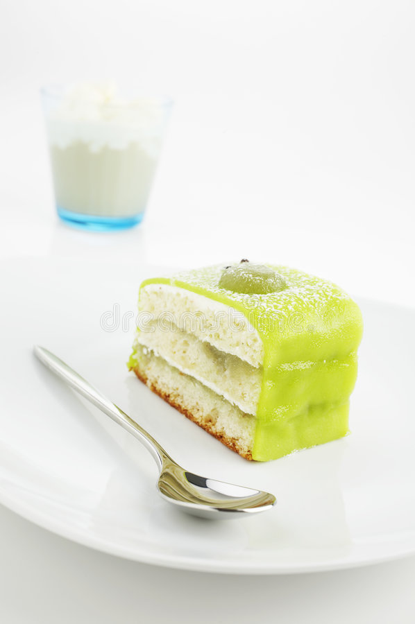 Torta verde imagen de archivo