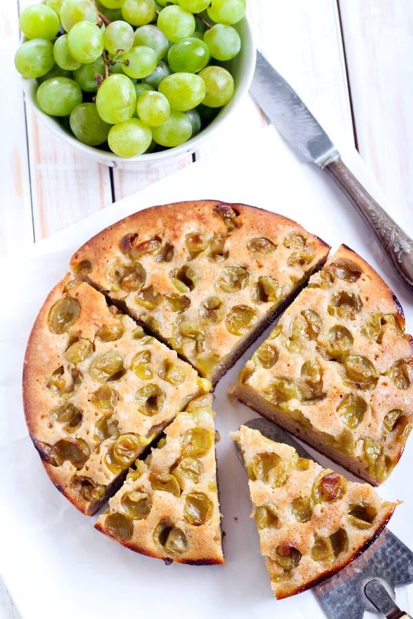 Torta verde de la fruta cítrica de la uva, imagen de archivo