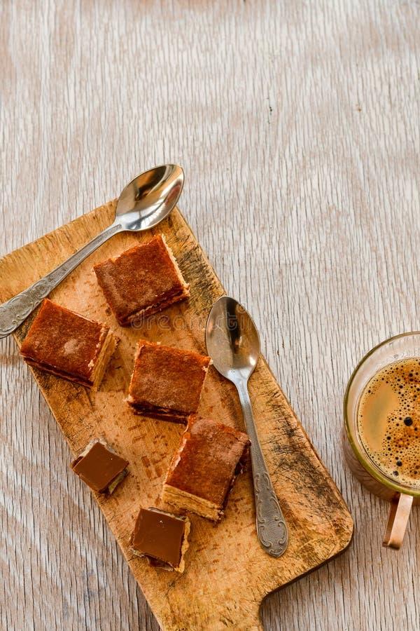 torta y café del cacao foto de archivo libre de regalías