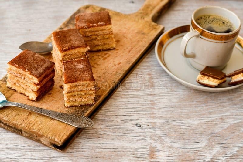 torta y café del cacao imágenes de archivo libres de regalías