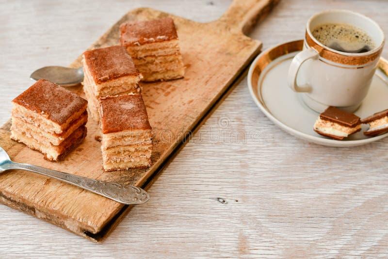 torta y café del cacao fotos de archivo libres de regalías