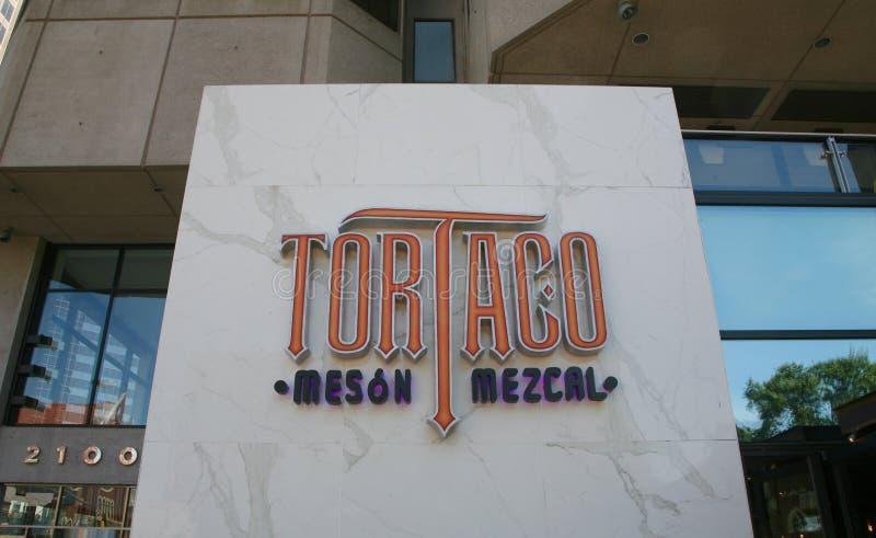 Tortas和炸玉米饼餐馆,达拉斯得克萨斯 免版税库存照片