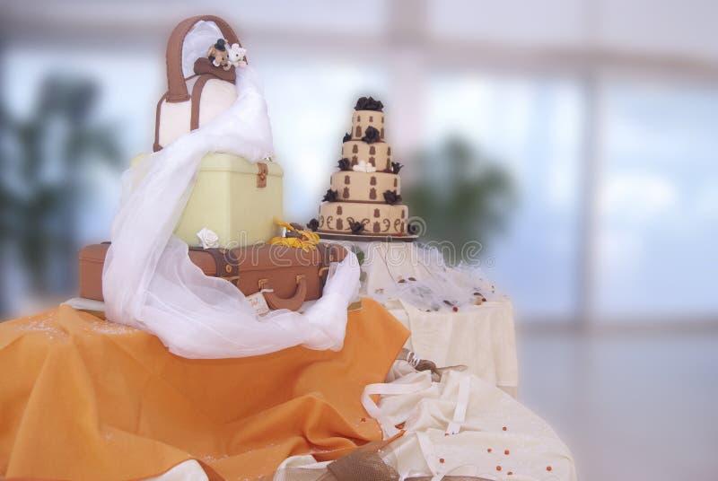 Tortas de boda imagen de archivo