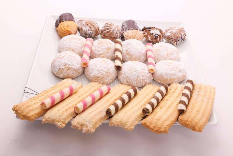 Tortas, galletas y caramelos imagenes de archivo