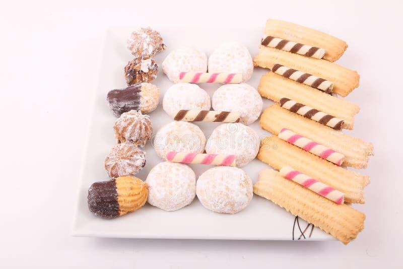 Tortas, galletas y caramelos imagen de archivo libre de regalías