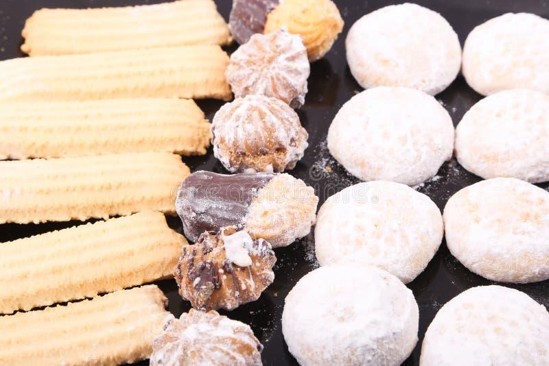 Tortas y galletas imagen de archivo libre de regalías