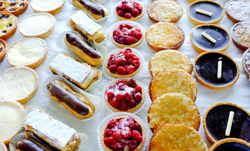 Tortas y pasteles foto de archivo