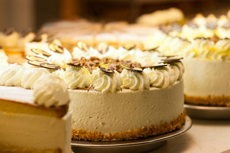 Torte σε ένα αρτοποιείο στοκ εικόνα