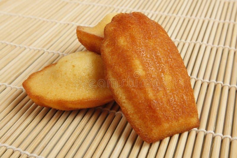 Torte/biscotti della Madeleine immagini stock