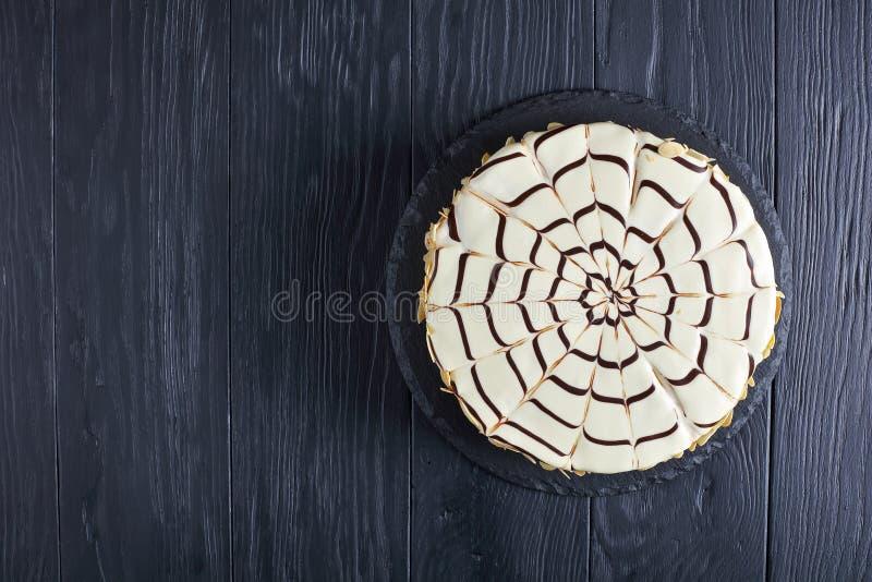 Torte de Esterhazy, receita clássica, vista superior fotos de stock