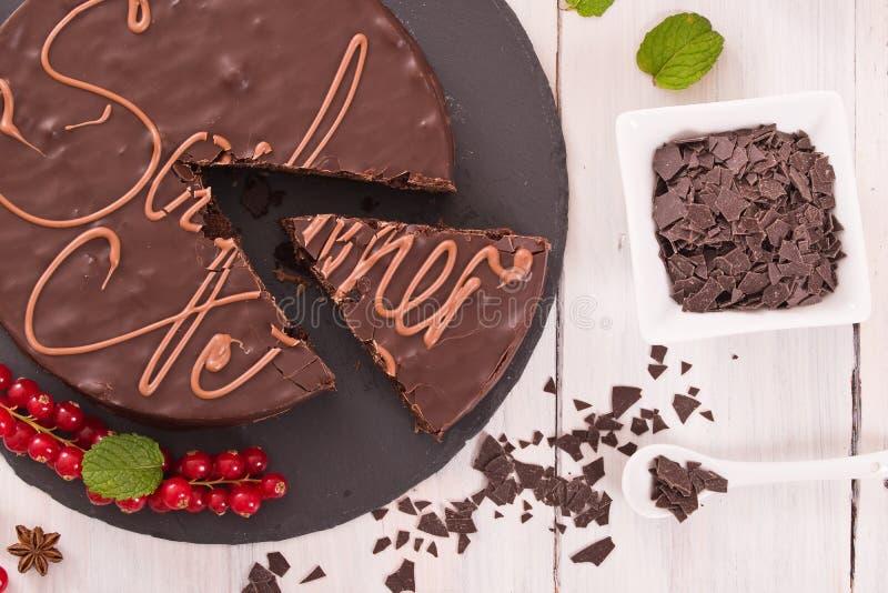 Torte de Sacher foto de stock